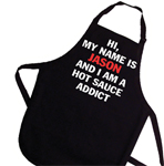 Personalized Hot Sauce Addict Apron