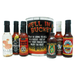 Hell In A Bucket Hot Sauce Gift Set