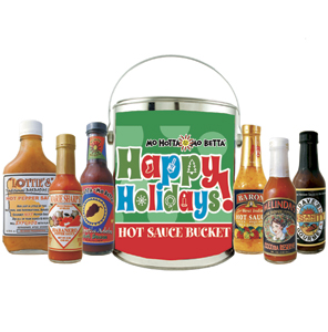 Happy Holidays Gift Bucket